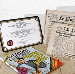 des journaux de jour de naissance