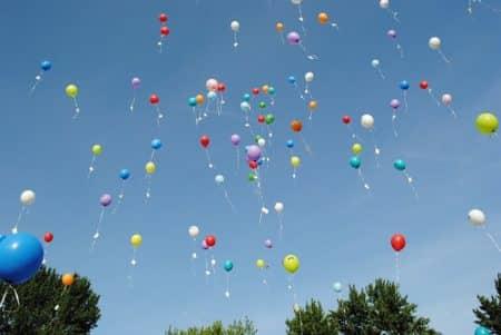 des ballons d'hélium