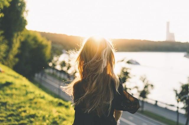 cheveux au soleil
