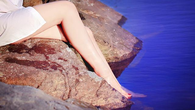 jambes bien rasées