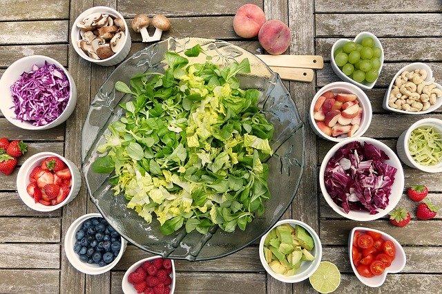 fruits et légumes de régime