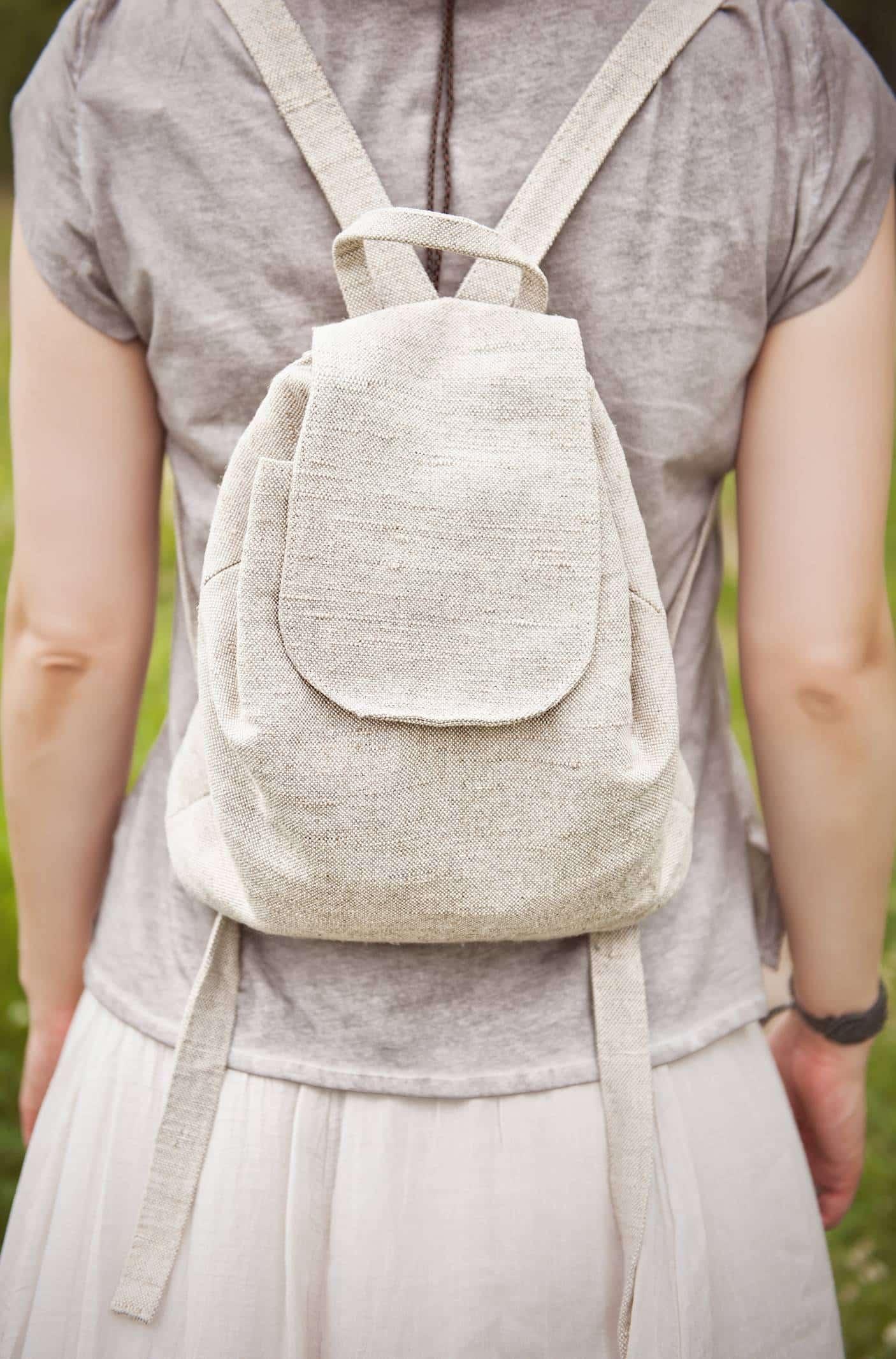 sacs à dos en fibres naturelles