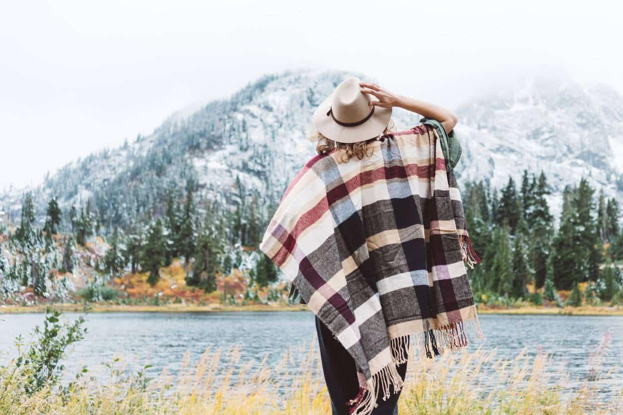 poncho femme vêtement hiver