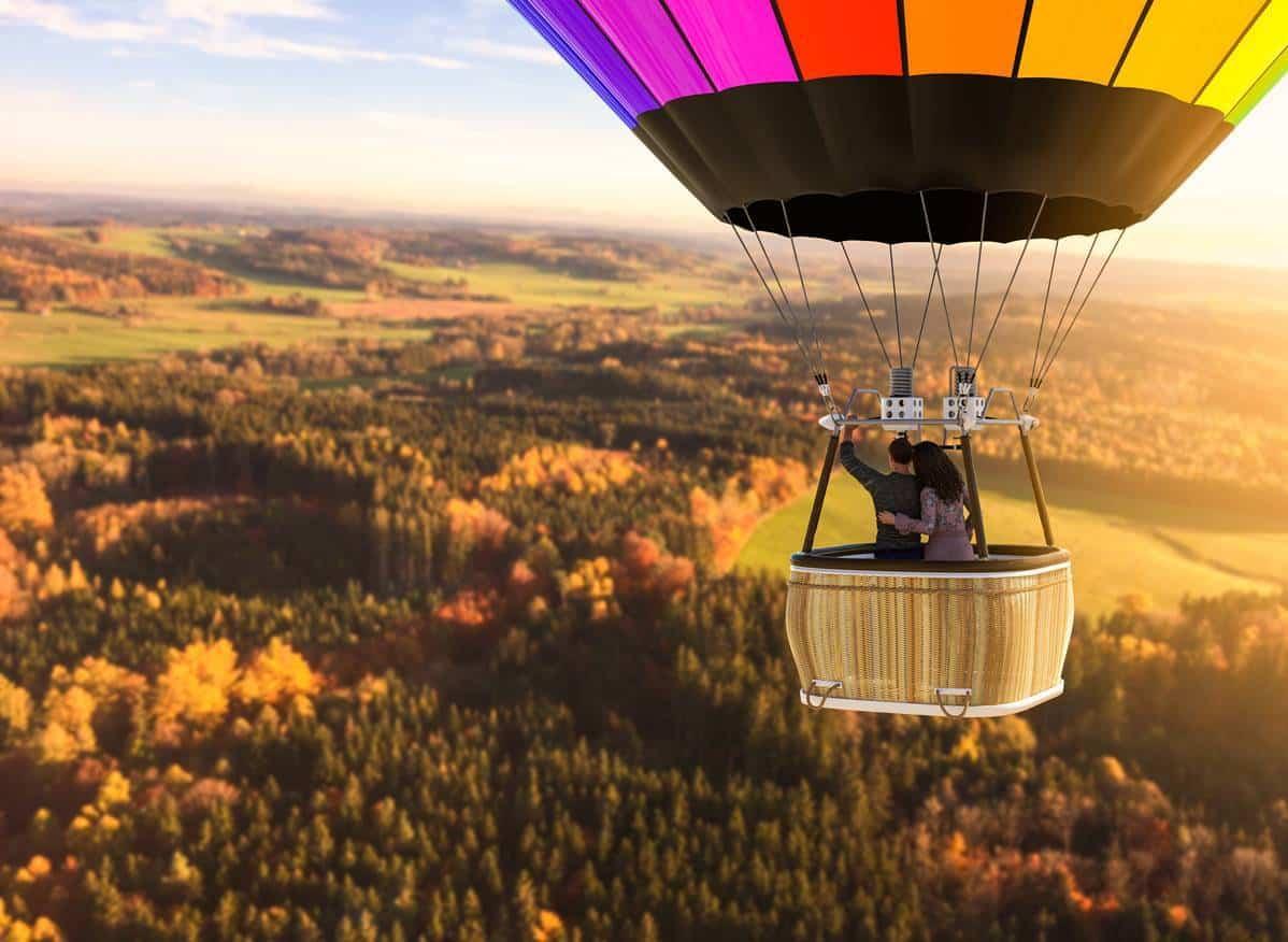 coffret cadeau vol en montgolfière