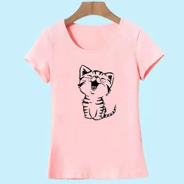 T-Shirt Femme Happy Kitten