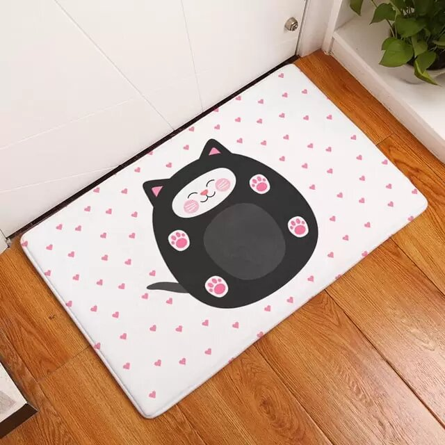 Tapis Chat Rond